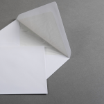 White envelopes DIN B6 with lining 25 units