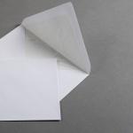 Weiße Hüllen DIN B6 mit Futter