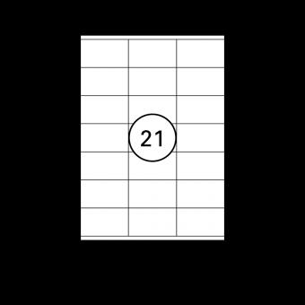 Etiketten Weiß - 70 x 41 mm