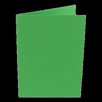 Karten Farbig A6 hochdoppelt Billardgrün   25 Stück