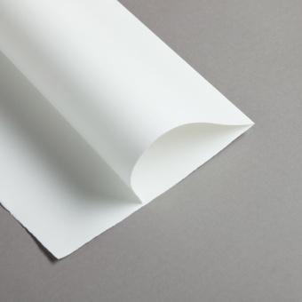 Echt Bütten wild gerippt Faltbogen A4 95 g Weiß