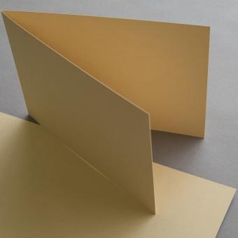 Klappkarten DIN B6 sand querdoppelt 120 x 169 mm