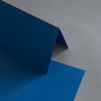 Colorplan Karten DIN B6 hochdoppelt 169 x 120 mm Blau