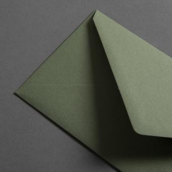 Colorplan Hüllen DIN lang spitze Klappe Olivgrün