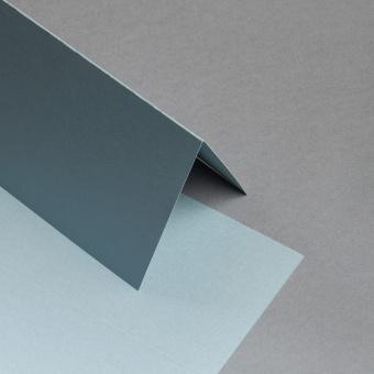 Sirio Pearl Karten DIN lang hochdoppelt Silber