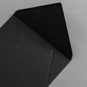Briefumschläge DIN B6 Schwarz