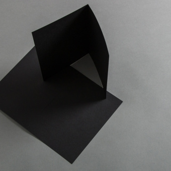 Cards black 120 x 170 mm, half fold