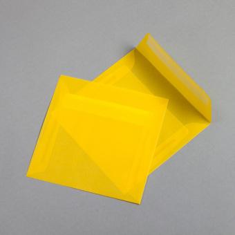 Transparent Farbig Hüllen 160 x 160 mm Gelb
