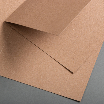 Kraftpapier Muskat Klappkarte quadratisch 148 x 148 mm