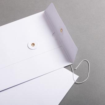 Umschlag C5 mit Bindfadenverschluss Weiß
