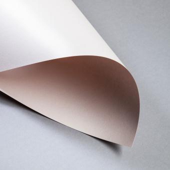 Metallics gebürstet 300 g DIN A4 | Nude | 300 g/m²