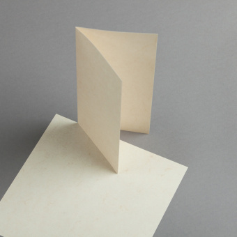 Cartes Pergament DIN long double haut