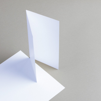 Karten Weiß DIN lang hochdoppelt
