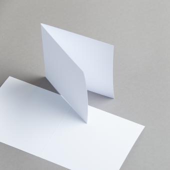 Karten Weiß 115 x 115 mm