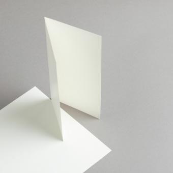 Karten Elfenbein DIN lang hochdoppelt