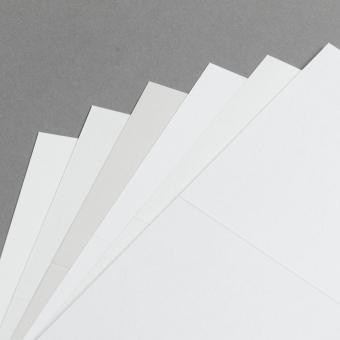 Metallics schimmernd Karten DIN Lang hochdoppelt