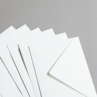 Enveloppes Opaline lisse avec doublure