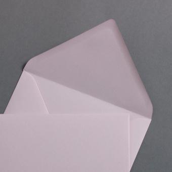 Light pink envelopes DIN B6