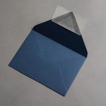 Colorplan Hüllen DIN B6 spitze Klappe Kobaltblau