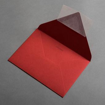 Colorplan Hüllen DIN B6 spitze Klappe Rot