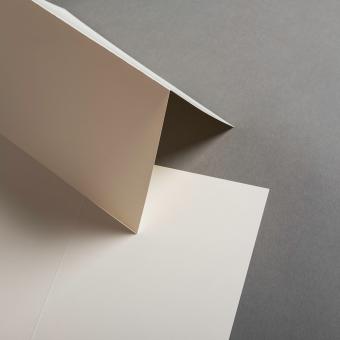 Karten Elfenbein DIN B6 hochdoppelt 120 x 171 mm
