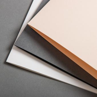 Farbige Klappkarten DIN B6 querdoppelt 120 x 169 mm