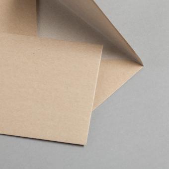 Kraftpapier Muskat Briefumschläge B6 nassklebend 25 Stück
