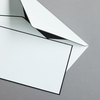 Buste Lino DIN lang lettera di condoglianze