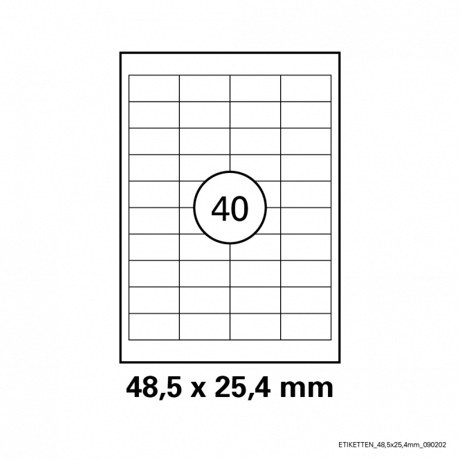 Etiketten Transparent - 25 Blatt 48,5 x 25,4 mm | Transparent