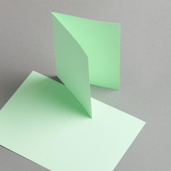 Karten Farbig A6 hochdoppelt Grün | 25 Stück