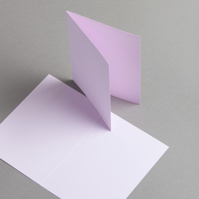 Karten Farbig A6 hochdoppelt Lila | 100 Stück
