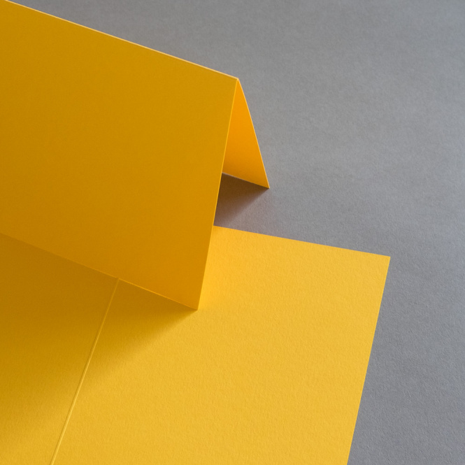 Colorplan Karten DIN B6  hochdoppelt 169 x 120 mm Curry