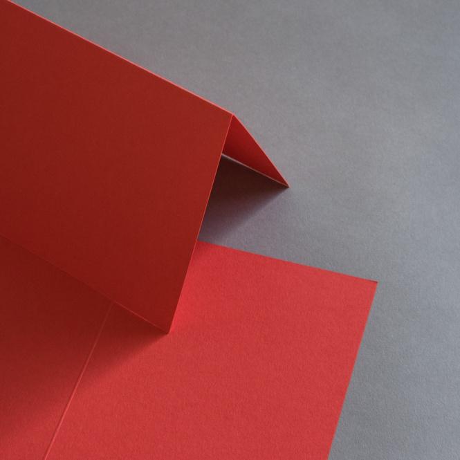 Colorplan Karten DIN B6 hochdoppelt 169 x 120 mm Hellrot