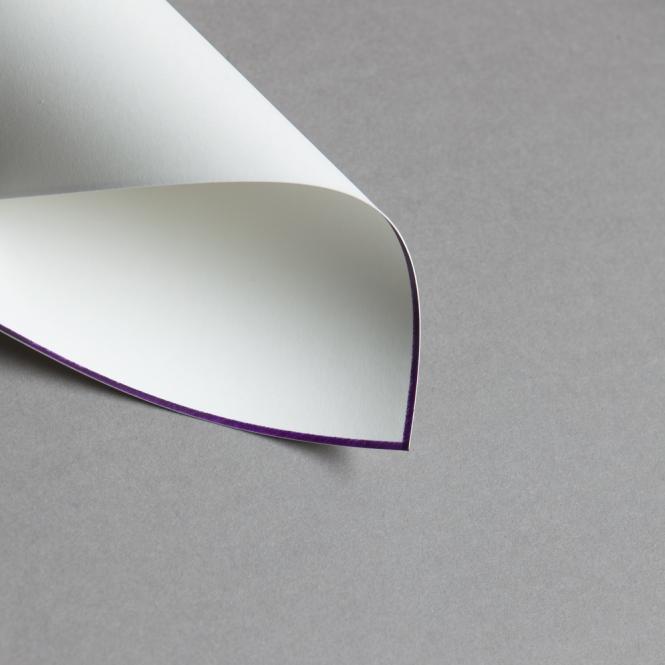 HS Luxury Papers - Karten A6 einfach lila gerändert | 25 Stück