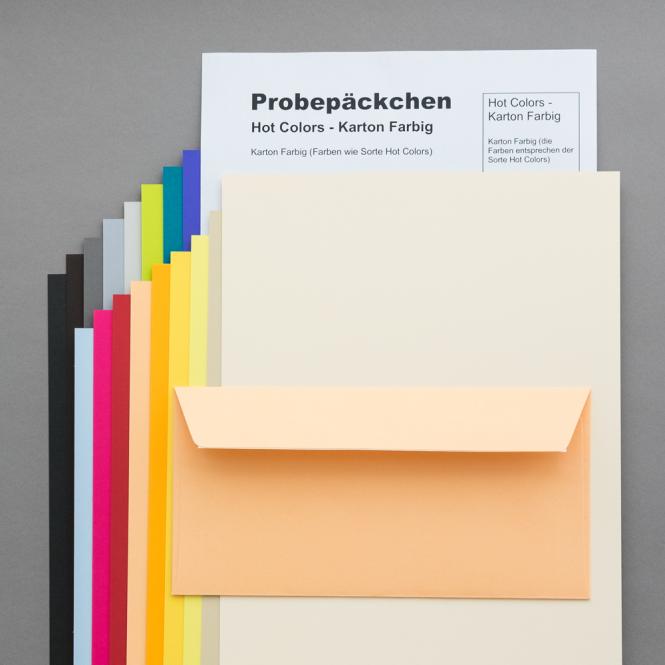 Hot Colors Karton Farbig Probepäckchen