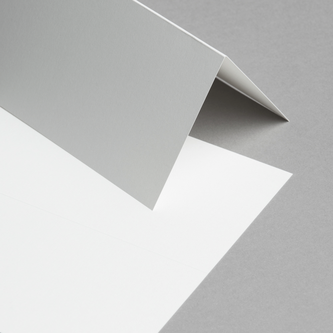 Metallics schimmernd Karten DIN lang hochdoppelt Creme mit Goldschimmer