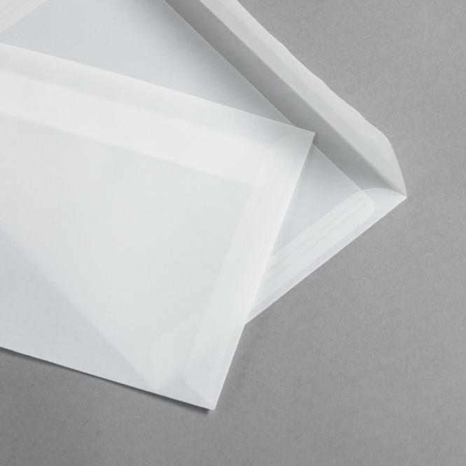 Transparent Premium Briefumschläge haftklebend DIN C5   ohne Fenster   gerade Klappe