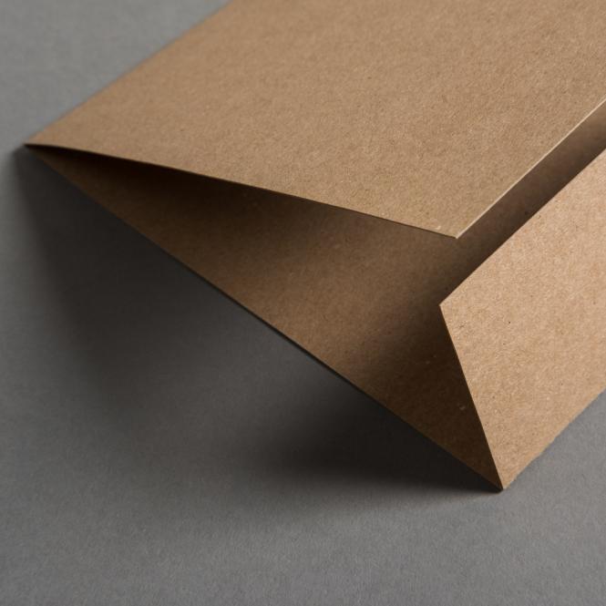 Papier kraft Carré de carte plié 148 x 150 mm