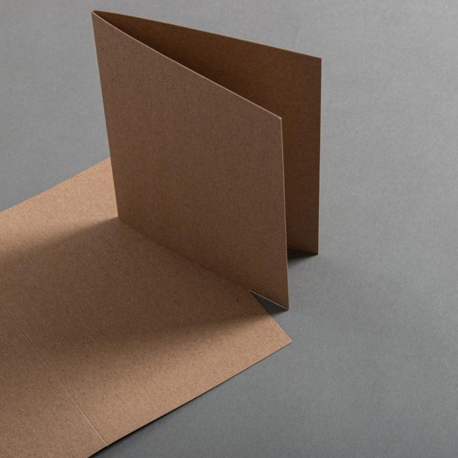 Kraftpapier Muskat Karten DIN B6 hochdoppelt 120 x 171 mm