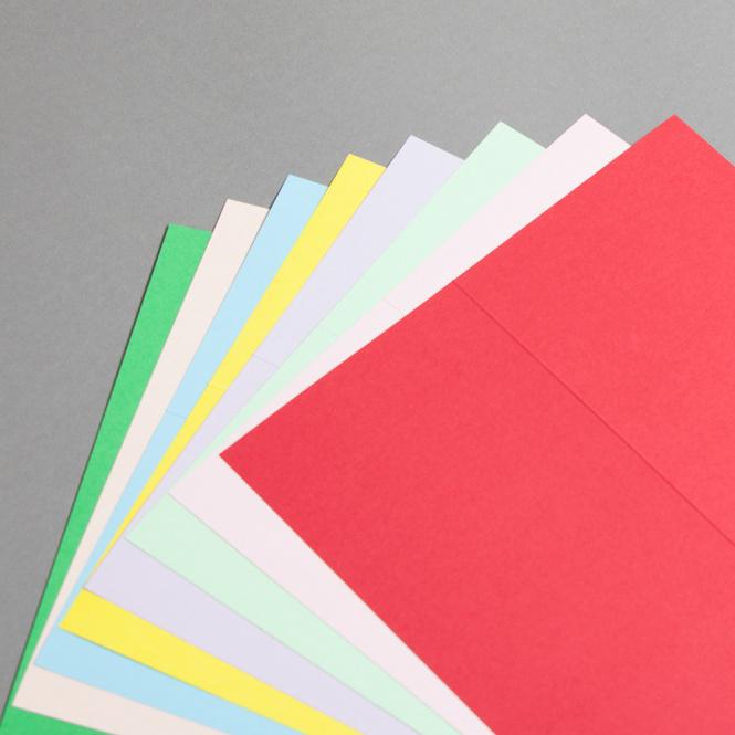 Karten Farbig DIN lang hochdoppelt