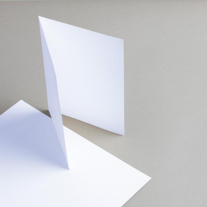 Karten Weiß A5 hochdoppelt