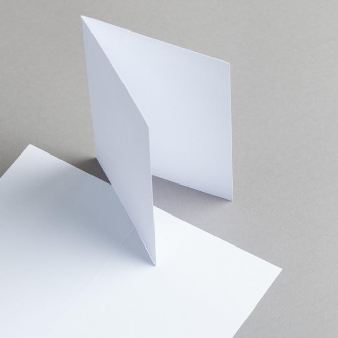 Karten Weiß A6 hochdoppelt