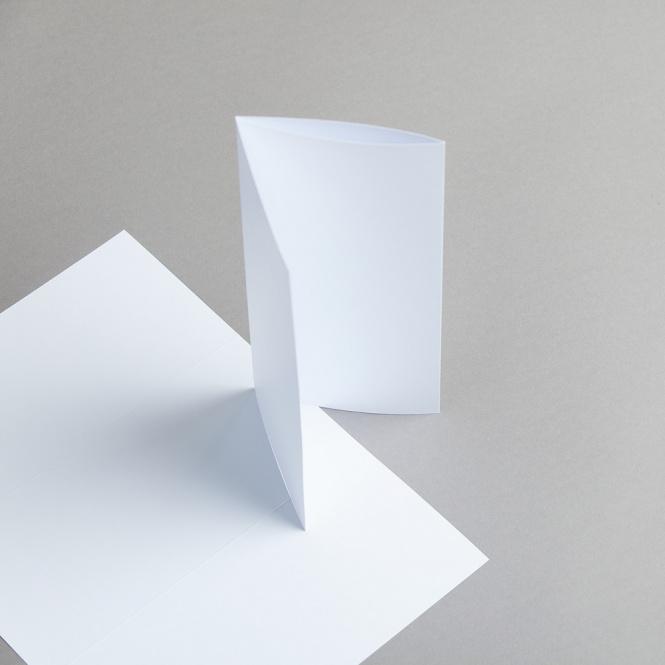 Cartes blanches DIN long pli roulé/double rainure