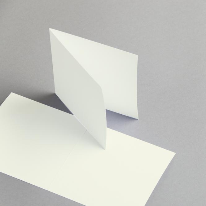 Karten Elfenbein 115 x 115 mm doppelt