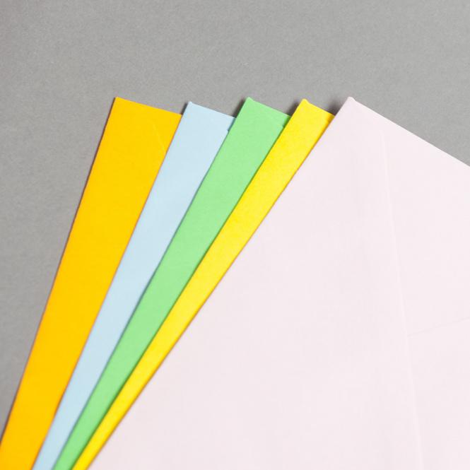 Buste da lettera colorate DIN Lang con fodera