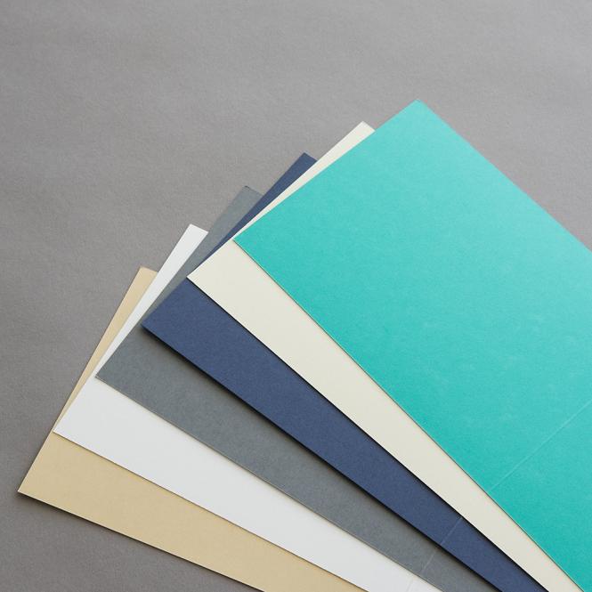 Farbige Karten DIN B6 querdoppelt 120 x 169 mm