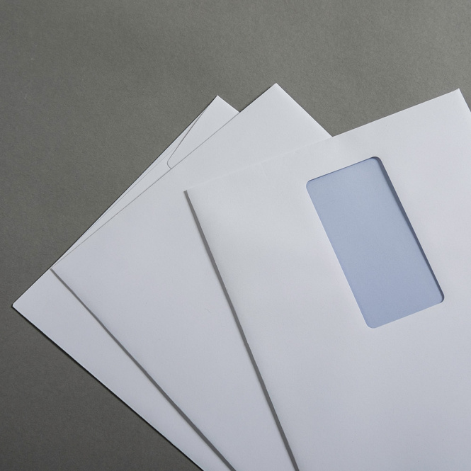 Jupp Enveloppes Blanc Recyclé DIN C5