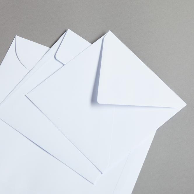 Briefhüllen Weiß Quadratisch