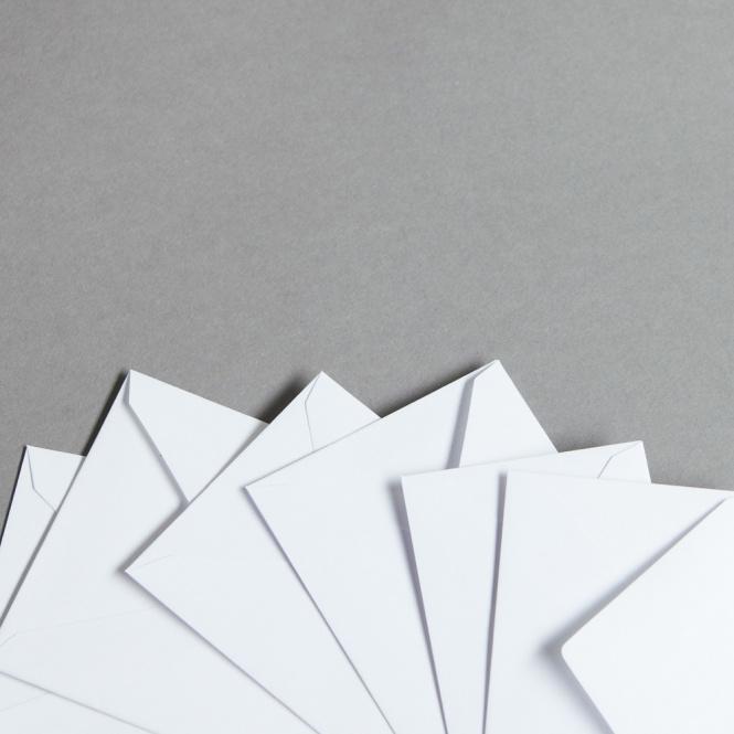 Mini enveloppes blanches