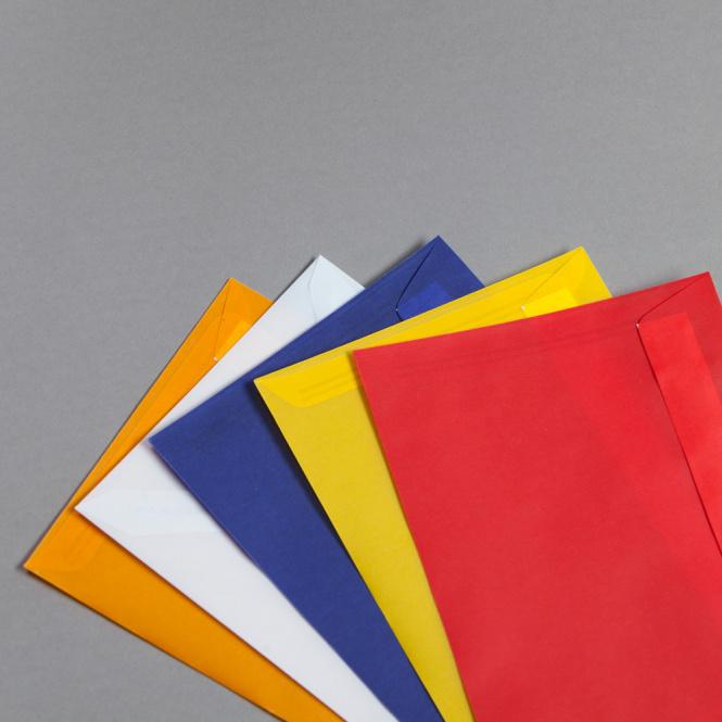 Enveloppes transparentes couleur DIN C5